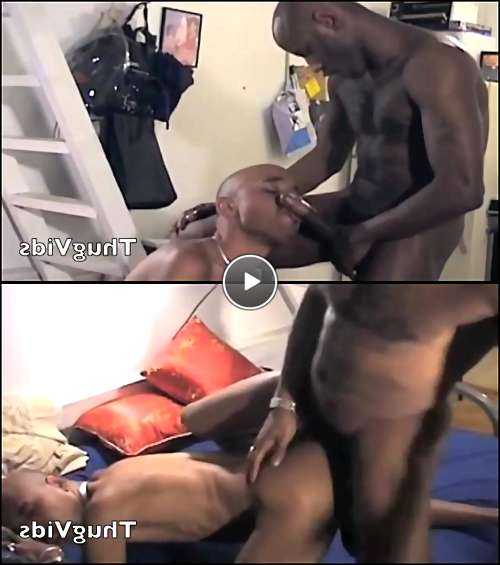 black cock facial video